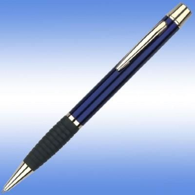 Picture of MELODY BALL PEN in Blue with Black Grip & Gold Gilt Trim