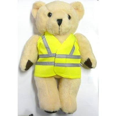 Picture of 10 INCH TALL HONEY BEAR with Reflective High Visibility Reflective Vest