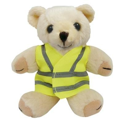 Picture of 5 INCH TALL HONEY BEAR with Reflective High Visibility Reflective Vest