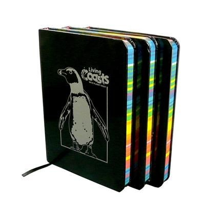 Picture of A6 RAINBOW EDGE NOTE PAD with Black Cover