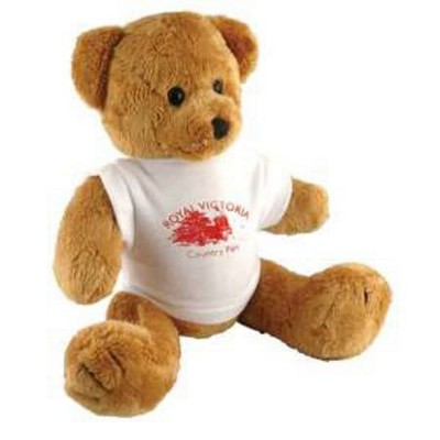 Picture of 10 INCH TALL ROBBIE BEAR with White Tee Shirt
