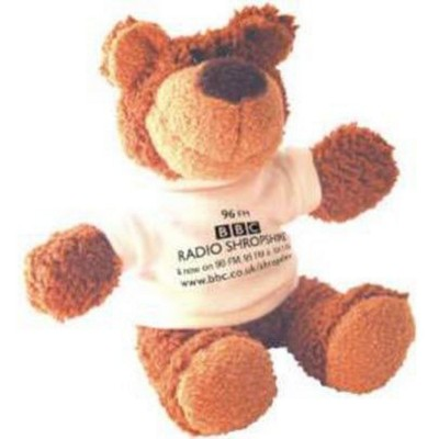 Picture of BUSTER SOFT TOY BEAR with White Tee Shirt