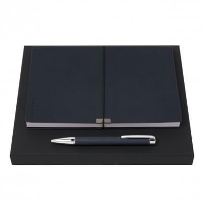 Picture of HUGO BOSS SET STORYLINE DARK BLUE BALL PEN & NOTE PAD A5