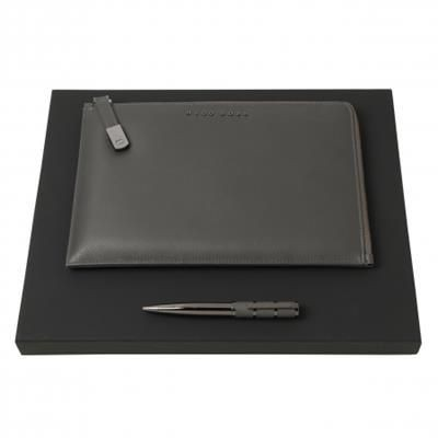 Picture of HUGO BOSS SET HUGO BOSS BALL PEN & CONFERENCE FOLDER A5