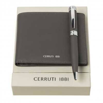 Picture of CERRUTI 1881 SET ZOOM BALL PEN & MONEY WALLET