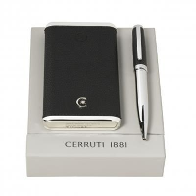 Picture of CERRUTI 1881 SET HAMILTON BLACK BALL PEN & POWER BANK