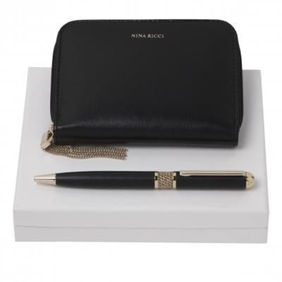 Picture of NINA RICCI SET ECHAPPéE NOIR BALL PEN & NOTE BOOK COVER