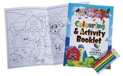 Picture of A5 SIZE 8 PAGE COLOURING BOOKLET & 4 PACK OF PENCIL SET