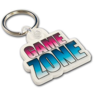 Picture of ACRYLIC KEYRING in White