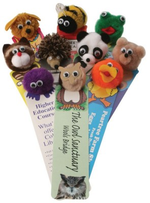 Picture of ANIMAL LOGO BUG BOOKMARK with Round Corners Printed Full Colour on One Side