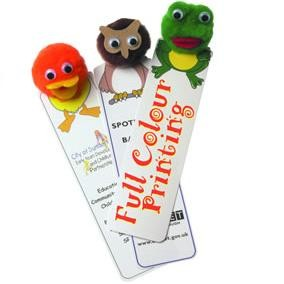 Picture of STANDARD LOGO BUG BOOKMARK with Round Corners Printed Full Colour on One Side