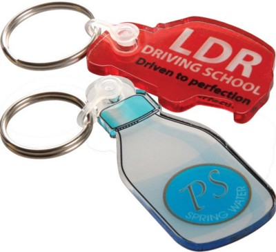 Picture of FROSTED ACRYLIC KEYRING