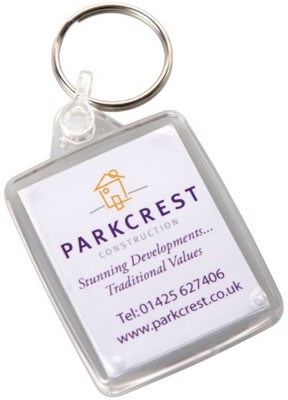 Picture of PASSPORT SIZE RECTANGULAR PLASTIC KEYRING
