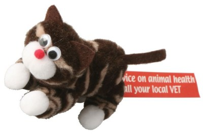 Picture of TABBY CAT FULL ANIMAL LOGO BUG with Full Colour Printed Ribbon