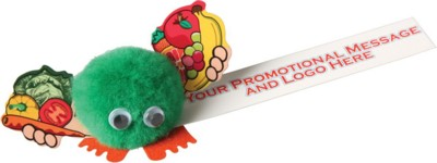 Picture of HEALTHY EATING HANDHOLDER LOGO BUG with Full Colour Printed Ribbon