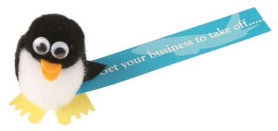 Picture of PENGUIN LOGO BUG with Full Colour Printed Ribbon