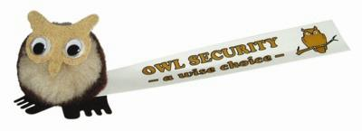 Picture of OWL LOGO BUG with Full Colour Printed Ribbon