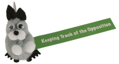 Picture of GREY SQUIRREL LOGOBUG with Full Colour Printed Ribbon