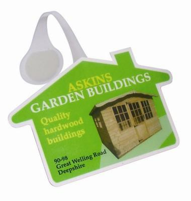 Picture of HOUSE SHAPE MESSAGE DISPLAY SHELF WOBBLER with Full Colour Print