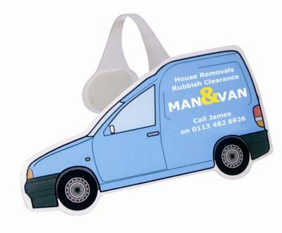 Picture of VAN SHAPE MESSAGE DISPLAY SHELF WOBBLER with Full Colour Print