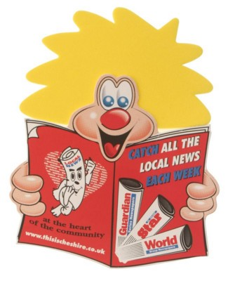 Picture of POSTIE NEWSPAPER CHARACTER with Full Colour Print