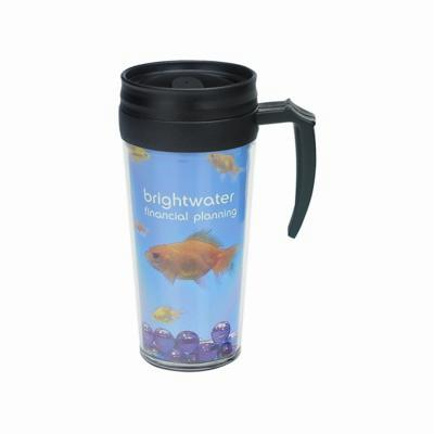 Picture of THERMAL INSULATED TRAVEL MUG with Full Colour Printed Insert