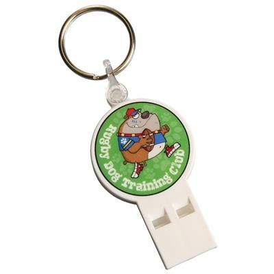 Picture of WHISTLE KEYRING in White