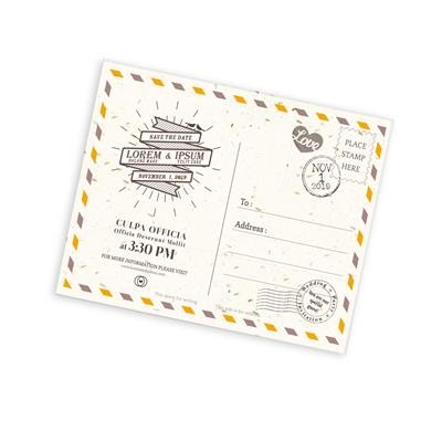 Picture of SEEDED PAPER POSTCARDS A5