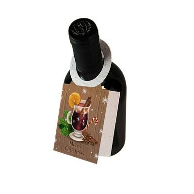 Picture of SEEDED PAPER WINE BOTTLE TAG