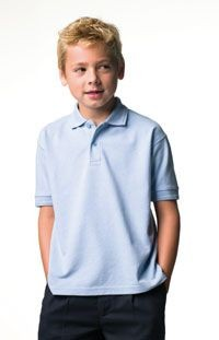 Picture of JERZEES CHILDRENS HARDWEARING PIQUE POLO SHIRT