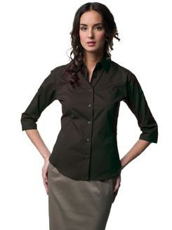 Picture of RUSSELL COLLECTION LADIES THREE QUARTER SLEEVE EASY CARE FITTED SHIRT