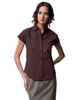 Picture of RUSSELL COLLECTION LADIES SHORT SLEEVE EASY CARE FITTED SHIRT