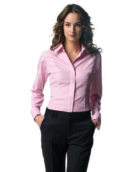 Picture of RUSSELL COLLECTION LADIES LONG SLEEVE TENCEL CORPORATE SHIRT