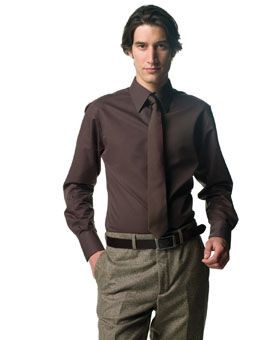 Picture of RUSSELL COLLECTION LONG SLEEVE TENCEL FITTED SHIRT