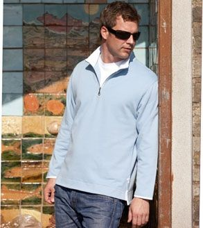 Picture of FRONT ROW COLLECTION SUPER SOFT ZIP NECK SWEATSHIRT