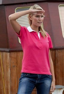 Picture of FRONT ROW LADIES SHORT SLEEVE STRETCH RUGBY SHIRT