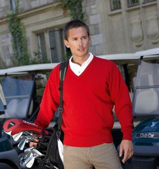 Picture of GLENMUIR LOMOND V NECK LAMBSWOOL JUMPER