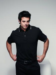 Picture of HENBURY CONTRAST TIPPED POLO SHIRT