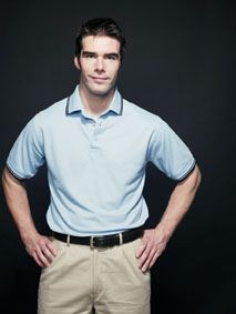 Picture of HENBURY CONTRAST TIPPED PIQUE POLO SHIRT