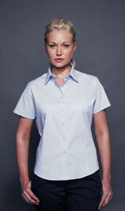 Picture of HENBURY LADIES SHORT SLEEVE FITTED BLOUSE