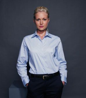 Picture of HENBURY LADIES LONG SLEEVE OXFORD SHIRT