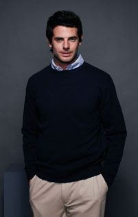 Picture of HENBURY LAMBSWOOL CREW NECK JUMPER