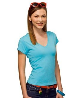 Picture of HANES BEAUTY LADIES V NECK TEE SHIRT
