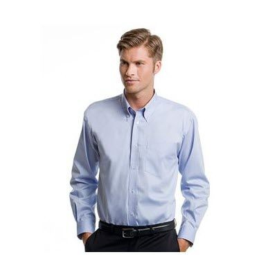 Picture of KUSTOM KIT LONG SLEEVE CONTRAST PREMIUM OXFORD BUTTON COLLAR SHIRT