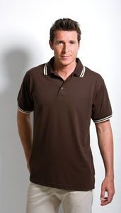 Picture of KUSTOM KIT CONTRAST TIPPED PIQUE POLO SHIRT