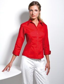 Picture of KUSTOM KIT LADIES THREE QUARTER SLEEVE PREMIUM OXFORD SHIRT