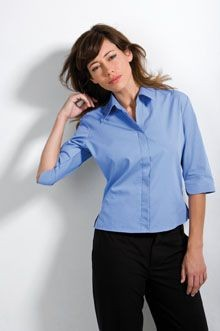 Picture of KUSTOM KIT LADIES THREE QUARTER SLEEVE CONTINENTAL BLOUSE