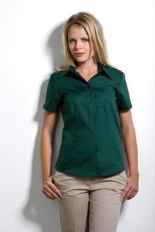 Picture of KUSTOM KIT LADIES SHORT SLEEVE PREMIUM OXFORD SHIRT with Pocket