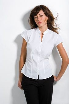 Picture of KUSTOM KIT LADIES CAP SLEEVE V NECK CONTINENTAL BLOUSE
