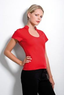 Picture of KUSTOM KIT LADIES KEYHOLE NECK CORPORATE TOP
